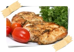 Куриное филе маринованное в оливковом масле