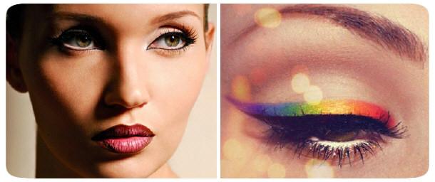 новогодний макияж 2013 - подводка глаз